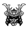 samurai skull traditional armor japanese vector image vector image