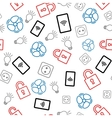 Seamless pattern with icons on white background vector image vector image