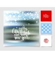 set christmas decoration background snowflake vector image