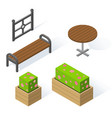 set of decorative objects for the design of the vector image vector image