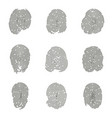set of isolated fingerprints or fingertips vector image vector image