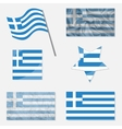 Set with Flags of Greece vector image vector image