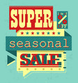 super sale vector image vector image