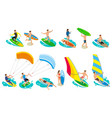 surfboard types icon set vector image vector image