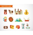 Switzerland - icons set vector image