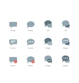 Talks and dialog bubble icons on white background vector image vector image