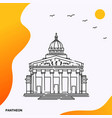 travel pantheon poster template vector image