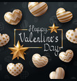 valentine day template heart and love vector image vector image