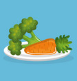 vegetables delicious food breakfast menu vector image