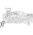 windows xp power tools text word cloud concept vector image vector image