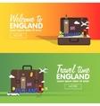London England travel destinations icon set Info vector image