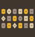 set of product label templates different shapes vector image