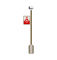 A signboard stand on vector image vector image