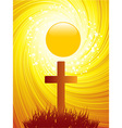 Abstract Easter Cross background vector image vector image
