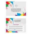 Abstract flayer vector image