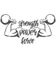 arm bicep strong hand holding a kettlebell icon vector image vector image