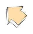 arrow pointing symbol vector image vector image