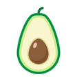 avocado flat icon fruit and tropical vector image