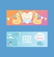 baby shower girl and boy clothes vector image