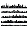 black city vector image vector image