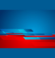 blue red contrast technology geometric abstract vector image vector image