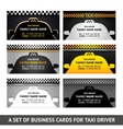 Business card taxi - fifth set vector image vector image