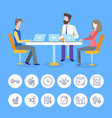 business meeting conference of people at office vector image vector image