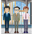 Businessmen in the office building vector image