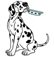 cartoon dalmatian vector image vector image