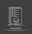 categories check list listing mark icon line vector image vector image