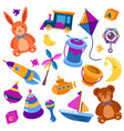 children or kids isolated toys teddy bear vector image vector image