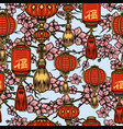 chinese new year elements seamless pattern vector image vector image