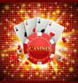chips and cards casino banner vector image vector image