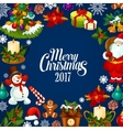 Christmas and New Year poster for card design vector image vector image