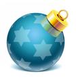 christmass glass toys vector image vector image