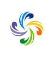 circle swirl colorful logo vector image vector image
