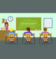 classroom lesson background flat style vector image