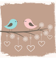 Couple of cute birds vector | Price: 1 Credit (USD $1)