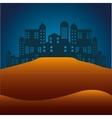 desert landscape background icon vector image vector image