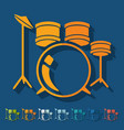 Flat design drum set vector image