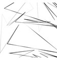 geometric art with random chaotic lines abstract vector image vector image