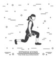girl do exercises with dumbbells vector image