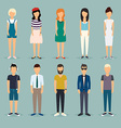 Group cartoon people Social Network and Social vector image vector image