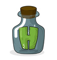 H in laboratory bottle Letter in magic pot with a vector image vector image