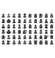 halloween costume party icon set solid style vector image