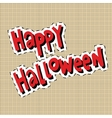 Happy Halloween label sticker vector image vector image