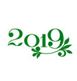happy new year 2019 banner in eco style vector image vector image