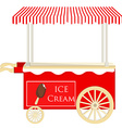 Ice cream red cart vector image vector image