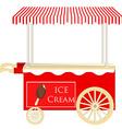 Ice cream red cart vector image