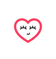icon a heart with closed eyes vector image vector image